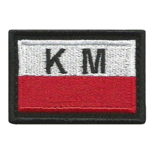 """<font color=""""white"""">99</font>Plakietka Flaga Klasa Mundurowa"""